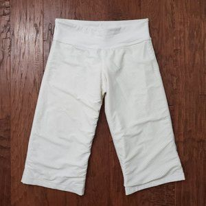 Lululemon Reversible Clam Digger Track Crop White
